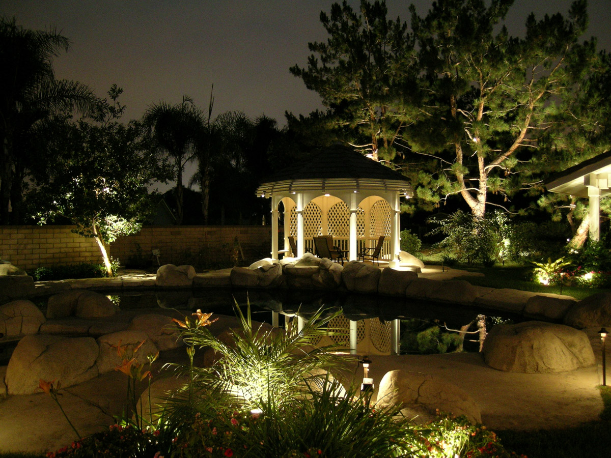 Outdoor living spaces lighting for Outdoor landscaping